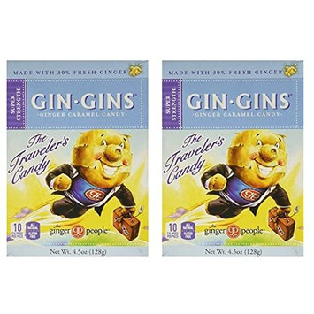 Ginger People Gin Gins Boost Ultra Strength Ginger Candy 4.5 ounce (Pack of 2)
