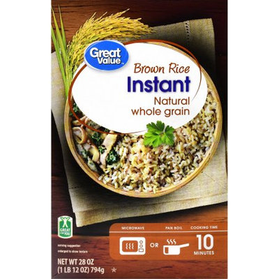 Wal-mart Store, Inc. Great Value Instant Brown Rice Natural Whole Grain, 28 oz