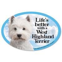 Prismatix Decal Cat and Dog Magnets, West Highland Terrier