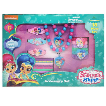 Shimmer and Shine Girl's Hair Accessory Gift Set with Necklace and Bracelet 18 pc set