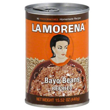 La Morena Refried Bayo Beans, 15.52 oz, (Pack of 12)