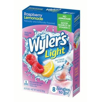 Jel Sert Wyler's Light Singles To Go! Sugar Free Drink Mix, Raspberry Lemonade, 0.63 Oz, 8 Count Box, Pack of 12