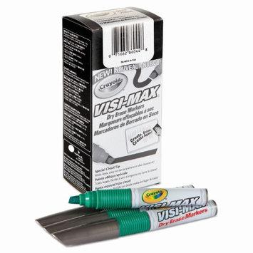Crayola Green Visi-Max Dry Erase Markers - 1 Box