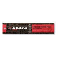 The Hershey Company KRAVE Meat Stick, Spicy Red Pepper Pork with Black Beans, 1oz