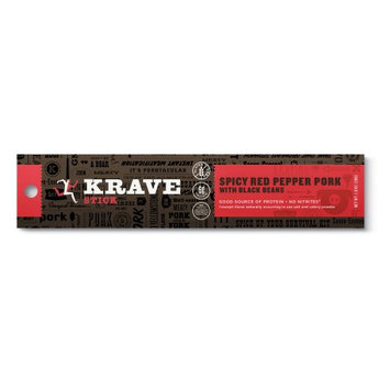 Hershey's Krave Meat Stick, Spicy Red Pepper Pork With Black Beans