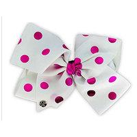 JoJo Siwa Large Cheer Hair Bow (Pink Polka Dot)