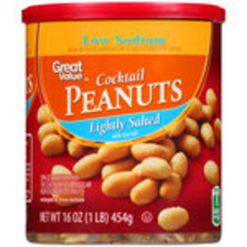 Great Value Cocktail Peanuts, Lightly Salted with Sea Salt, 16 oz