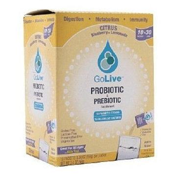 GoLive Probiotic & Prebiotic Drink Mix, Citrus Blueberry Lemonade 10 ea