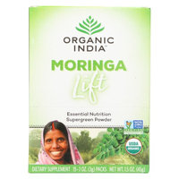Organic India - Moringa Lift, Single Serve - Complex Superfood for Essential Nutrition - Abundant in Vitamins, Minerals & Amino Acids