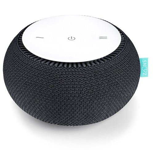 SNOOZ White Noise Sound Machine - Real Fan Inside, Control via iOS and Android App - Charcoal