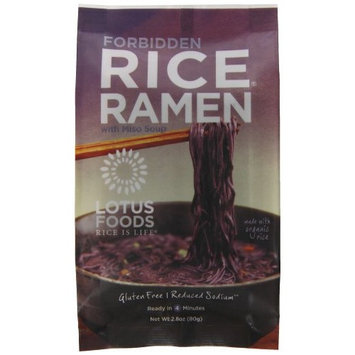 Lotus Foods Rice Ramen Noodles, Forbidden Rice with Miso Soup, 10 Count [Forbidden Rice]
