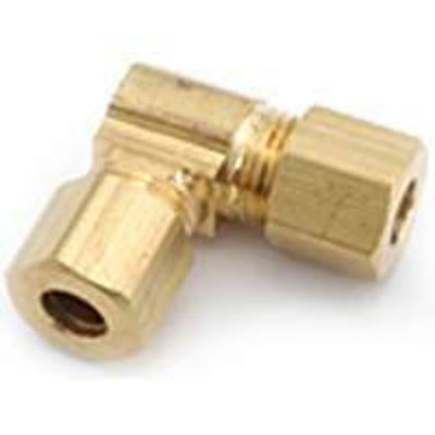 Anderson 750065-08 Tube Union Elbow, 90 deg, 1/2 in, Compression, 200 psi, Brass, -65 to 250 deg F