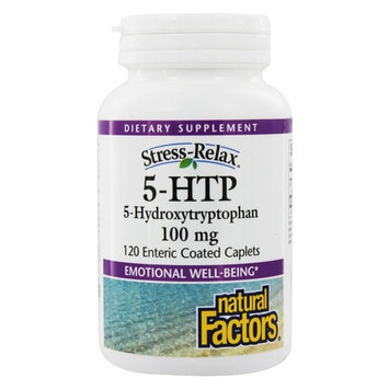 Stress-Relax 5-HTP for Emotional Well-Being 100 mg. - 120 Enteric-Coated Tablets