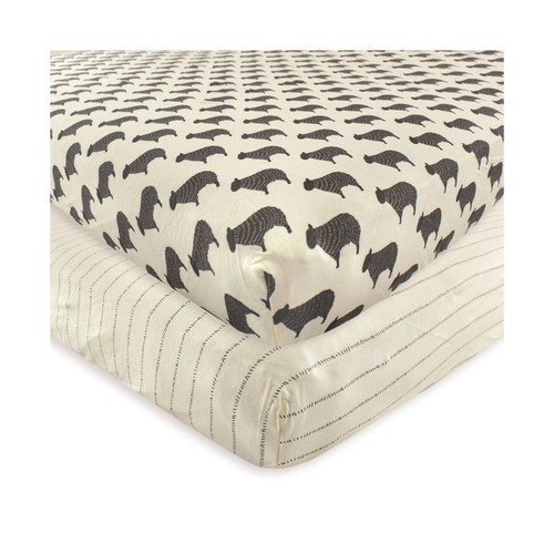 Hudson Baby Fitted Crib Sheets, 2-Pack, One Size