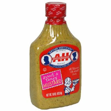 Abeles & Heymann Mustard, Sweet & Tangy, 16-Ounce Bottles (Pack of 6)