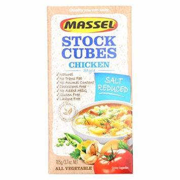 Massel Salt Reduced Ultra Cube Bouillon Cubes - Chicken Style - Case of 12 - 3.7 oz.