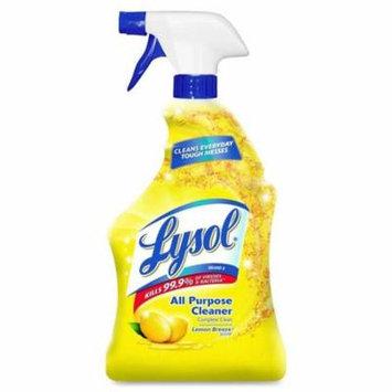 Reckitt Benckiser 19200-75352 32 oz Lemon Lysol RTU All Purpose Cleaner - Case of 12