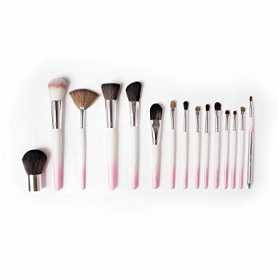 Vanity Planet Palette 15 Piece Professional Makeup Brush Set, White/Pink