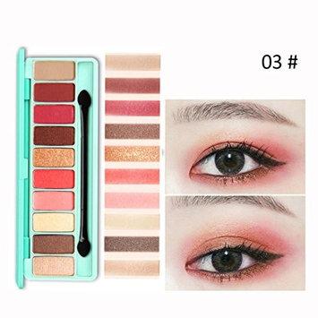 Fheaven 10 Colors Cosmetic Powder Smoky Eyeshadow Palette Makeup Set Matte Eye Shadow Palettes with Eyeshadow Brush
