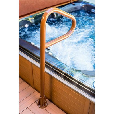 Hot Tub Products SS-36-BB Spa Ease 36 in. Safety Rail Deck Series With Lift And Turn Base - Bourbon Brown
