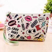 Best Sale! Recommend ! Women Print Makeup Bag Travel Organizer Storage Pouch Clutch Bag PESTE
