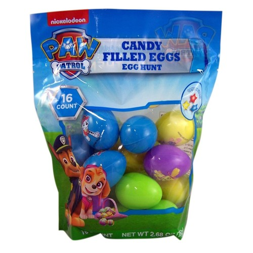 Paw Patrol Candy Filled Eggs for Easter Eggs Hunt, 16 count