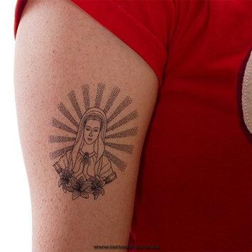 2 x praying virgin Maria as black Tattoo -Virgin Maria Tattoo (2)