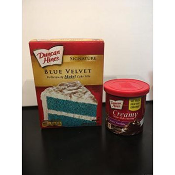 Gender Reveal Cake Mix and Frosting (Blue/Chocolate)