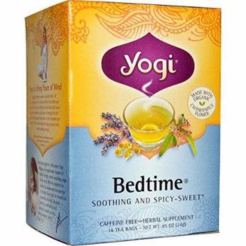 Yogi Tea, Bedtime, Caffeine Free, 16 Tea Bags, .85 oz (Pack of 2)