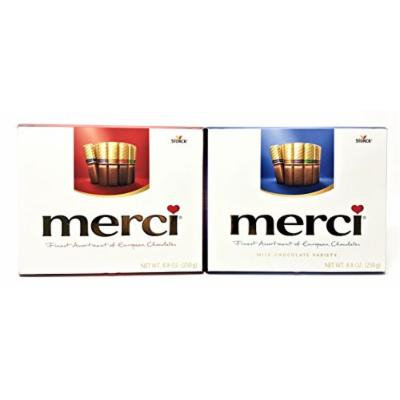 Merci European Rich & Milk Chocolates Variety (Red + Blue Variety, 8.8oz/box)