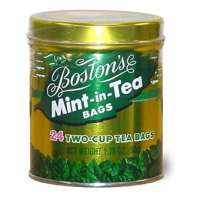 Boston's mint-in-tea 24 count tin - 6 pack