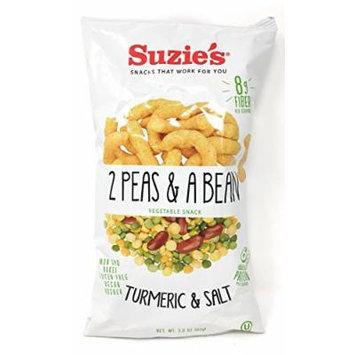 Suzie's 2 Peas & A Bean Tumeric & Salt, 3 oz. (Pack of 6)