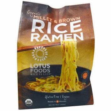 Lotus Foods, Organic Millet & Brown Rice Ramen, 4 Packs, 10 oz(pack of 4)