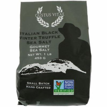 Gustus Vitae, Gourmet Salt, Italian Black Winter Truffle Sea Salt, 1 lb (pack of 1)