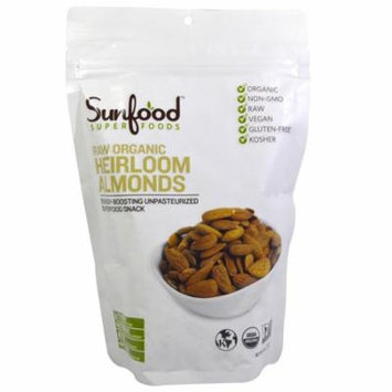 Sunfood, RAW Organic, Heirloom Almonds, 8 oz (pack of 6)