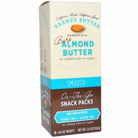 Barney Butter, Bare Almond Butter, Smooth, 6 Packets, 0.6 oz (pack of 4)