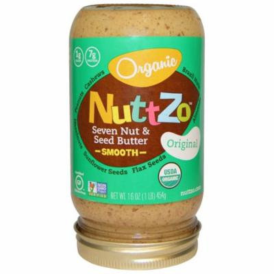 Nuttzo, Organic, Seven Nut & Seed Butter, Smooth, Original, 16 oz(pack of 6)