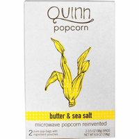 Quinn Popcorn, Microwave Popcorn, Butter & Sea Salt, 2 Bags, 3.5 oz (98 g) Each(pack of 3)