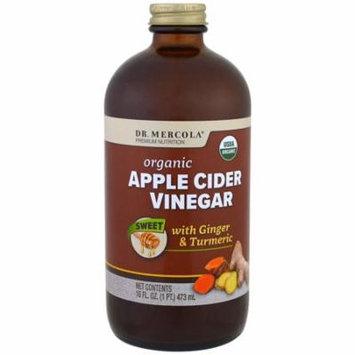 Dr. Mercola, Organic Apple Cider Vinegar, Sweet, 16 oz (pack of 6)