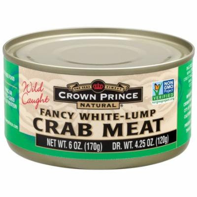 Crown Prince Natural, Fancy White-Lump Crab Meat, 6 oz (pack of 6)