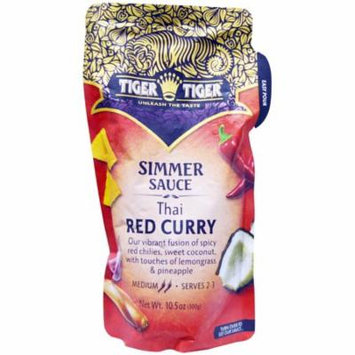 Tiger Tiger, Simmer Sauce, Thai Red Curry, 10.5 oz (pack of 6)