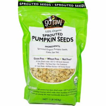 Go Raw, Organic Sprouted Pumpkin Seeds, 1 lb (pack of 6)