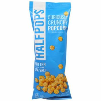 Halfpops, Curiously Crunchy Popcorn, Butter & Pure Ocean Sea Salt, 4.5 oz (pack of 4)