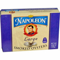 Napoleon Co., Large Smoked Oysters, 3.66 oz (pack of 12)