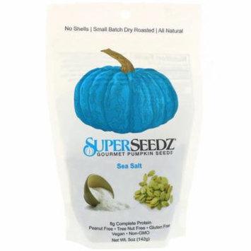 SuperSeedz, Gourmet Pumpkin Seeds, Sea Salt, 5 oz (pack of 4)