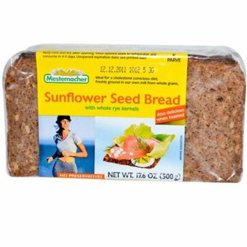 Mestemacher, Sunflower Seed Bread with Whole Rye Kernels, 17.6 oz(pack of 4)