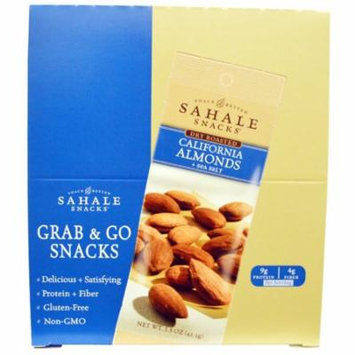 Sahale Snacks, Dry Roasted, California Almonds + Sea Salt, 9 Packs, 1.5 oz (42.5 g) Each(pack of 4)