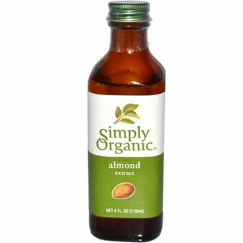 Simply Organic, Almond Extract, 4 fl oz (pack of 3)