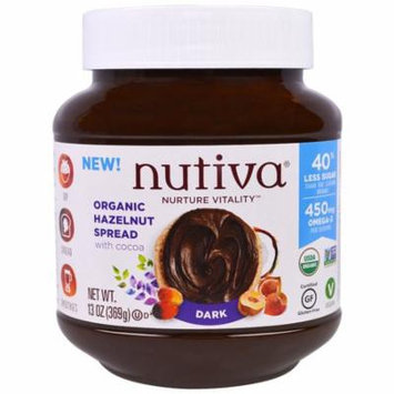 Nutiva, Organic Hazelnut Spread, Dark, 13 oz (pack of 1)
