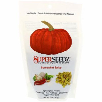 SuperSeedz, Gourmet Pumpkin Seeds, Somewhat Spicy, 5 oz(pack of 1)